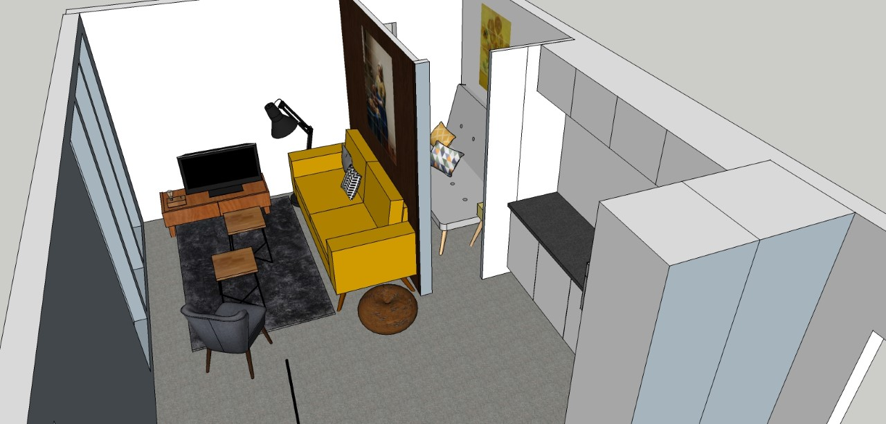 thumbnail_chalet geel zoom woonkamer - Camping De Grote Altena
